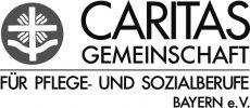 Logo deder Caritasgemeinschaft Pflege- und Sozialberufe, in der Pflegefachmann und Pflegefachfrau organisiert sind, die ab 2020 die neue generalistische Pflegeausbildung durchlaufen haben, die die bisherigen Ausbildungen als Krankenschwester, zum Altenpfleger und in der Kinderkrankenpflege ersetzt.