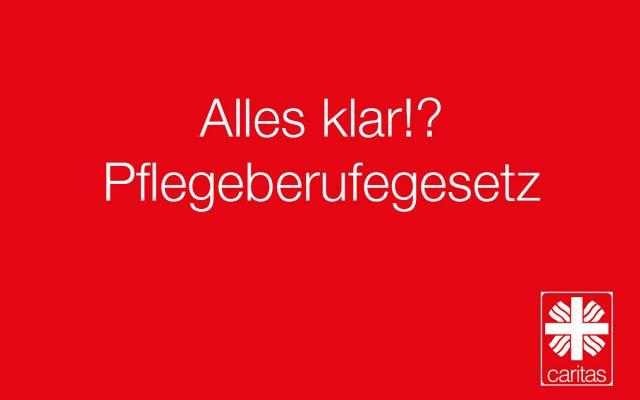 In einem Erklärvideo hat die Caritas in NRW sich dem neuen Pflegeberufegesetz gewidmet.