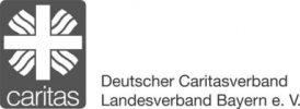 Logo der Caritas in Bayern, deren Häuser und Verbände ab 2020 die neue generalistische Pflegeausbildung anbieten, die die bisherigen Ausbildungen als Krankenschwester, zum Altenpfleger und in der Kinderkrankenpflege ersetzt.